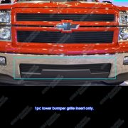 Fits 2014-2015 Chevy Silverado 1500 Black Lower Bumper Billet Grille Insert #C65990H