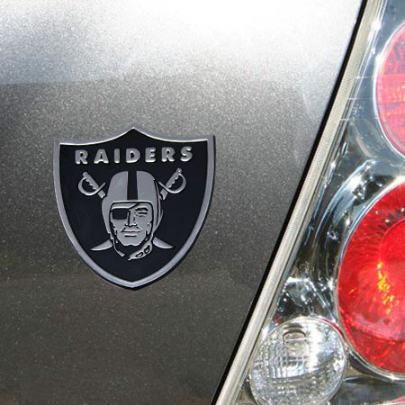 Nfl Football Emblem - Team ProMark NFL Oakland Raiders Metal Emblem