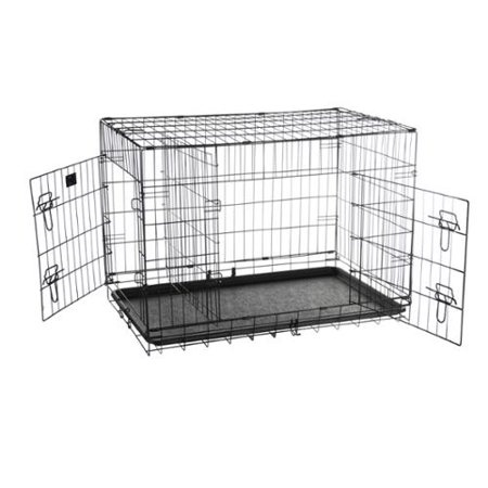 Pet trex 36quot folding pet crate kennel wire cage for dogs for Dog cage cost