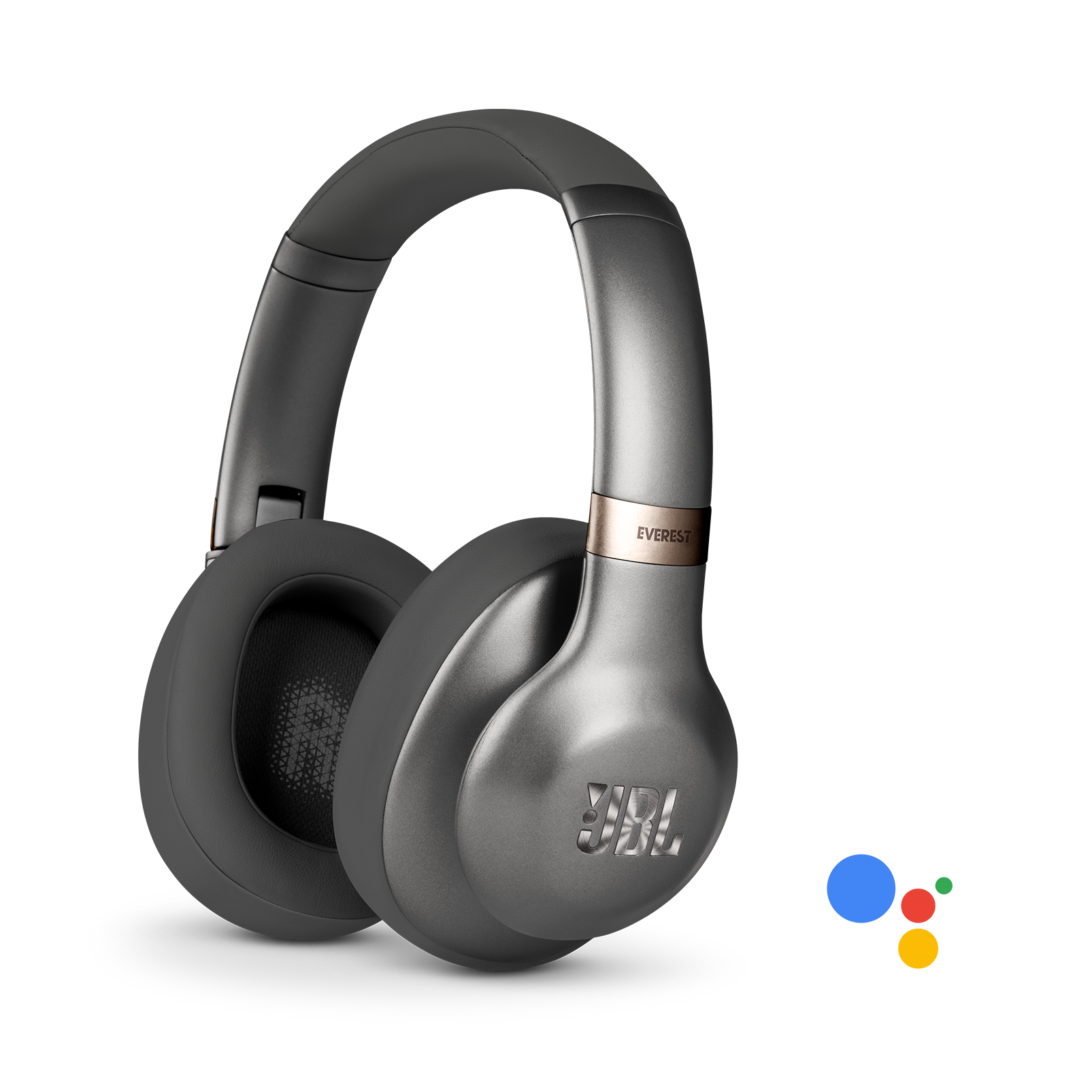 JBL Everest 710GA Wireless Over-Ear Headphones with Voice Activation and Built-In Remote and Microphone (Gunmetal)