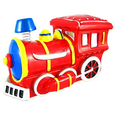 Bobble smoke stack train engine locomotive piggy bank - Train piggy banks ...