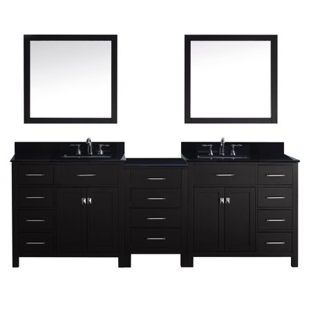 Virtu Md 2193 Bgsq Es 001 Caroline Parkway 93 Inch Double Bathroom Vanity Set In Espresso