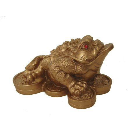Feng Shui Mini Matte Gold Money Frog Coin Toad/Chan Chu Chinese Charm of Prosperity Home Decoration Gift New - Mini Frogs