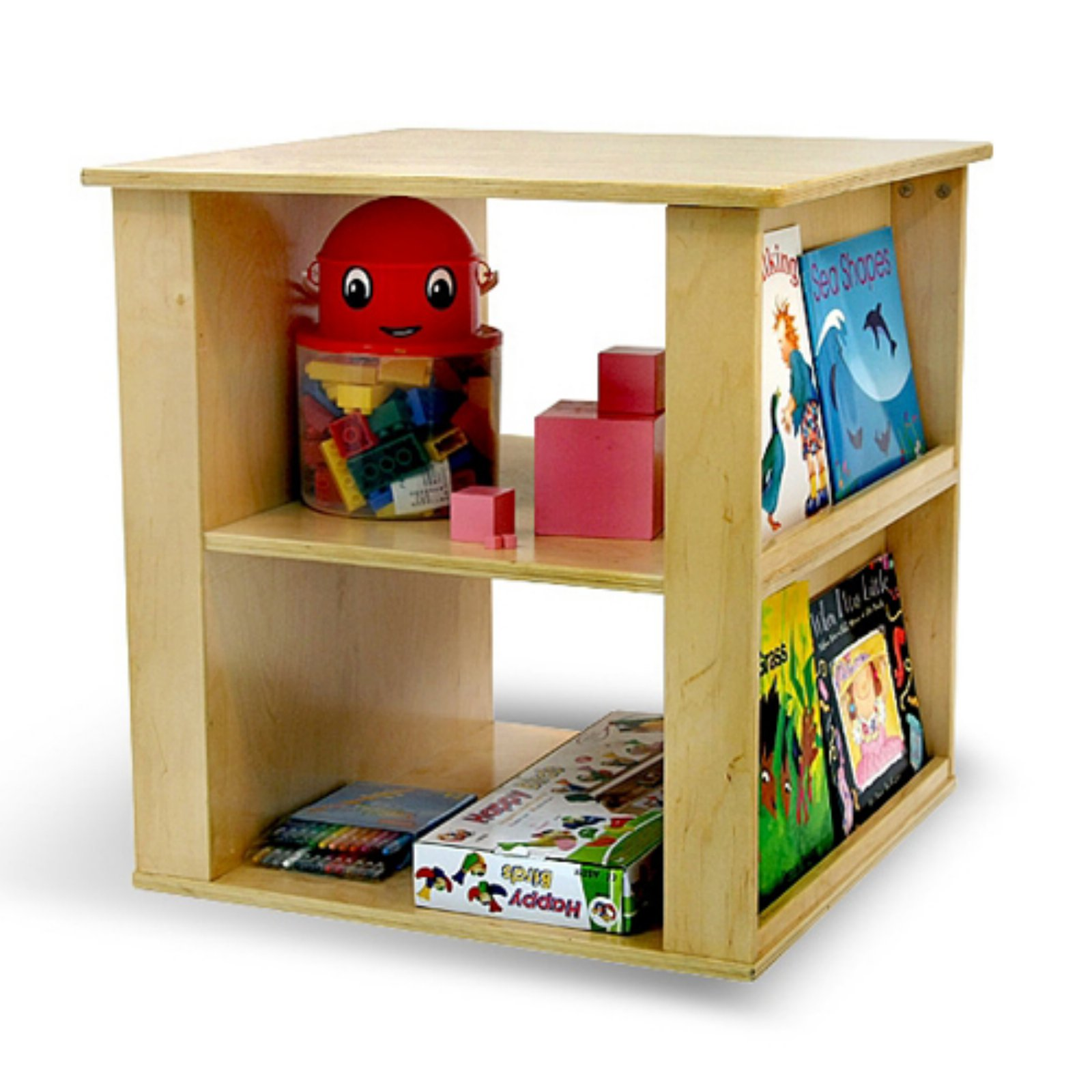 A+ Childsupply Toy and Book Cube Shelf