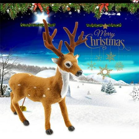 Lovely Simulation Reindeer Christmas Ornament Plush Deer Christmas Decorations - image 2 of 6
