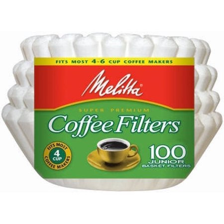 Melitta 8-12 Cup Basket Coffee Filters Paper White, 100 Count, 2 Pack (2 Pack Pond Filters)