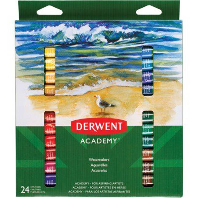 Mead MEA98222 Derwent Academy 24 Watercolor Paint Tubes, Assorted Color - image 1 of 1