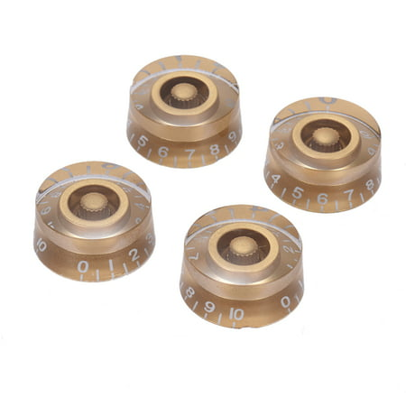 4pcs Speed Volume Tone Control Knobs for Gibson Les Paul Guitar Replacement Electric Guitar Parts Golden (Gibson Vintage Guitar Knobs)