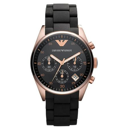 47ecc9ee Emporio Armani Women's Tazio Chronograph Rose Gold Polyurethane Watch AR5906