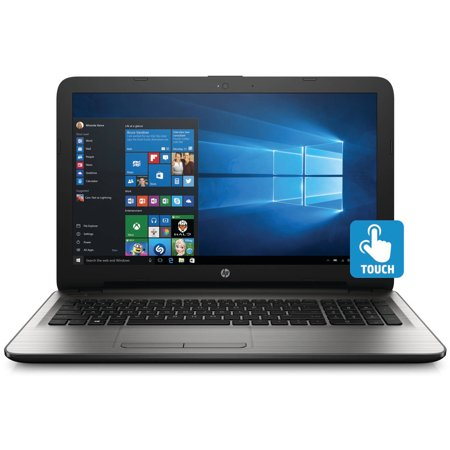 Hp 15 Ay041wm 15 6  Silver Fusion Laptop  Touch Screen  Windows 10  Intel Core I3 6100U Processor  8Gb Memory  1Tb Hard Drive