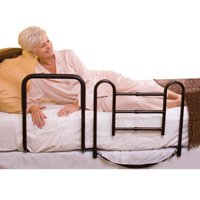 Carex Easy-Up 2-in-1 Bed Rails For Elderly, Bed Safety Rails for Stand Assist and Fall Prevention