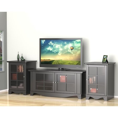 Pinnacle 56-inch TV Stand with Two 1-Door Audio Towers