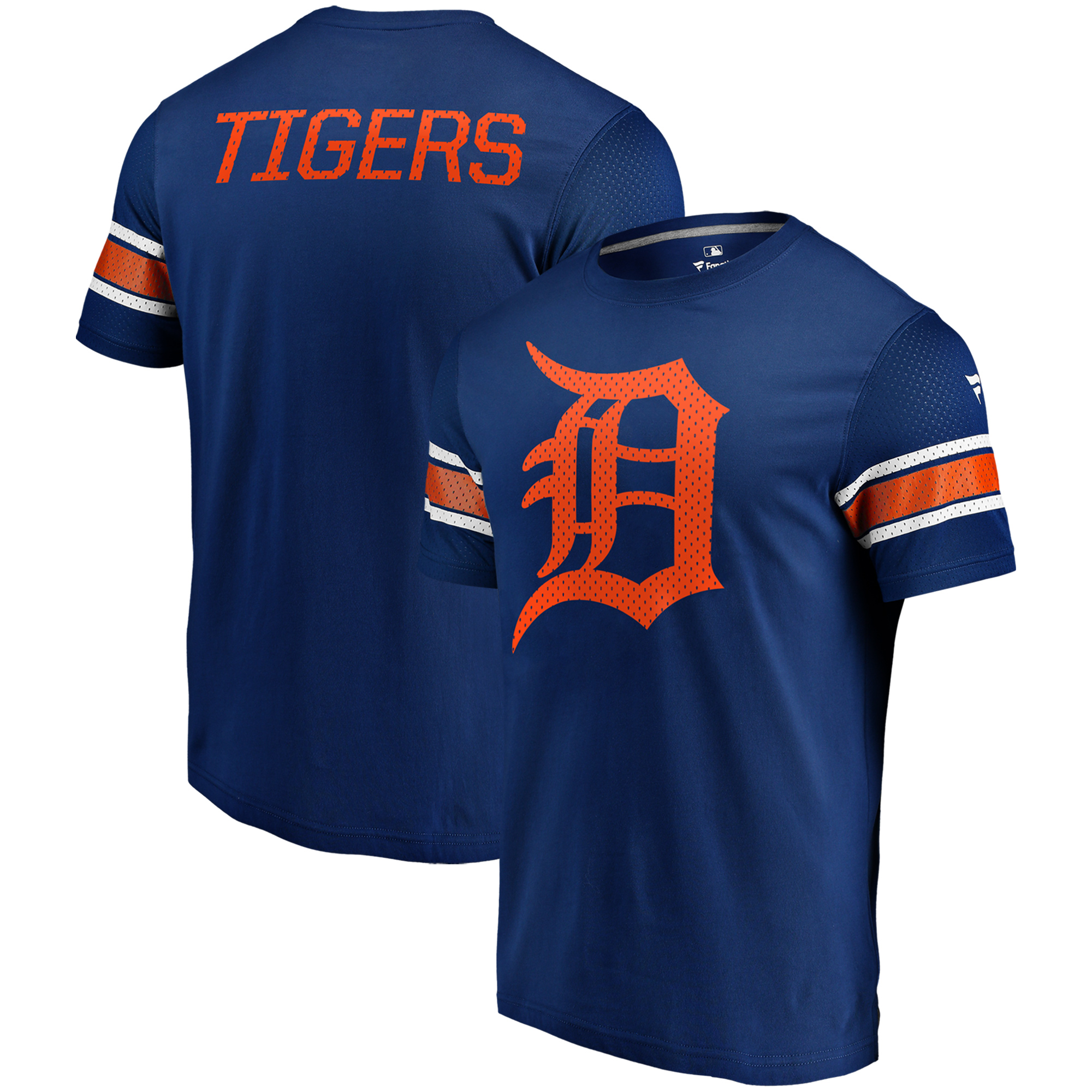 Detroit Tigers Fanatics Branded Iconic Jersey T-Shirt - Navy