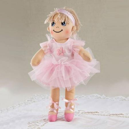 Delton Apple Dumplin Ballerina Doll, Pink