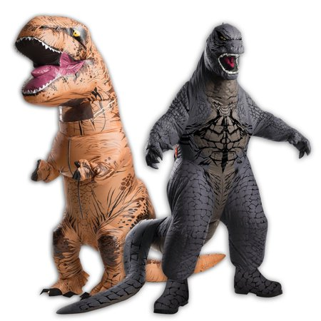 Inflatable Adult T-Rex and Adult Godzilla Costume Bundle