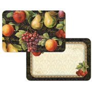Counter Art CART45181 Gourmet Fruit Reversible Placemats