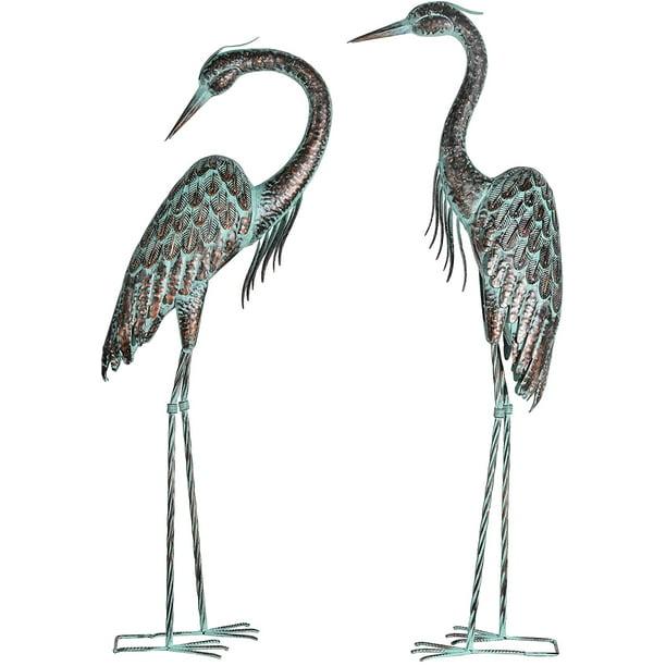 Bird Yard Art For Patio Lawn Pond, Outdoor Bird Statues