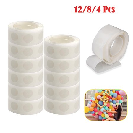 Wedding Diy Projects (EEEKit 1200/800/400 Pieces(12/8/4 Rolls) Glue Point Balloon Glue Craft Adhesive Point Tape Non-liquid Glue Homemade Arts DIY Projects for Balloons Party or Wedding)
