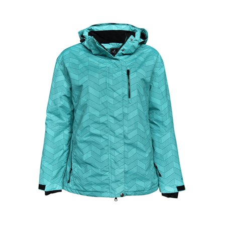 Pulse Women's Plus Size Insulated Bevel Ski Jacket 1X - 6X (Women Ski Jacket Columbia)