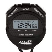 MARATHON ST083009 Adanac 4000 Digital Stopwatch Timer with Extra Large Display and Buttons, Water Resistant, Two Year Warranty