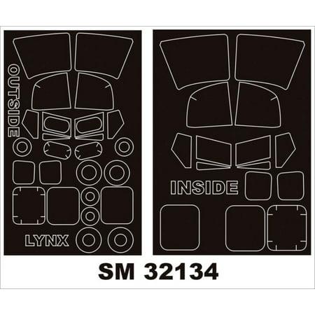 Montex Mini Mask 1:32 Westland Lynx for Revell Kit Spraying Stencil #SM32134