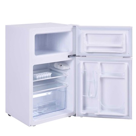 Stainless Steel Refrigerator Freezer Cooler Fridge Compact 3.2 cu ft.Unit - image 4 of 10