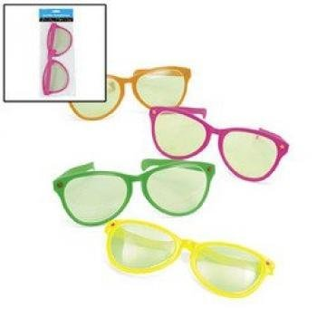 Plastic Jumbo Sunglasses (1 dozen) - Bulk [Toy]