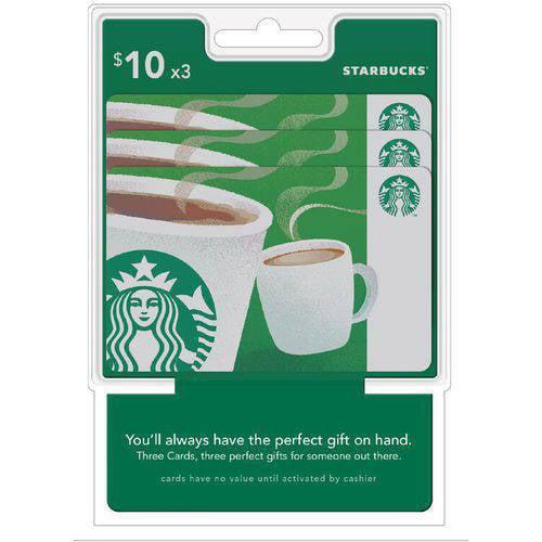 Starbucks $30 Multipack - 3/$10 Gift Cards
