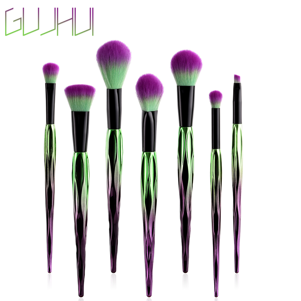 7pcs Makeup Brushes Set Foundation Blush Eyeshadow Eyebrow Powder Brushes Cosmetics Set  Brush Kits Best Gift For Women Mom