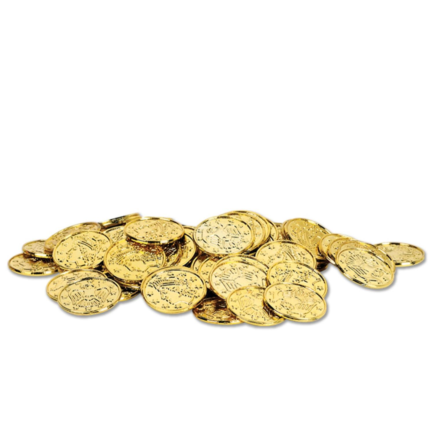 Club Pack of 1200 Metallic Gold Pirate Coin Party Favors 1.5''