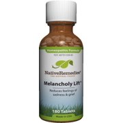 NativeRemedies Melancholy Lift Grief Relief Tablets, 180 Ct