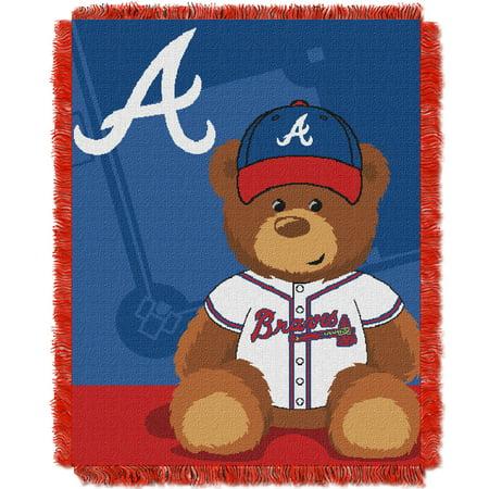 Atlanta Braves Baby Blanket (Atlanta Braves The Northwest Company 36'' x 46'' Baby Jaquard Throw - No Size )