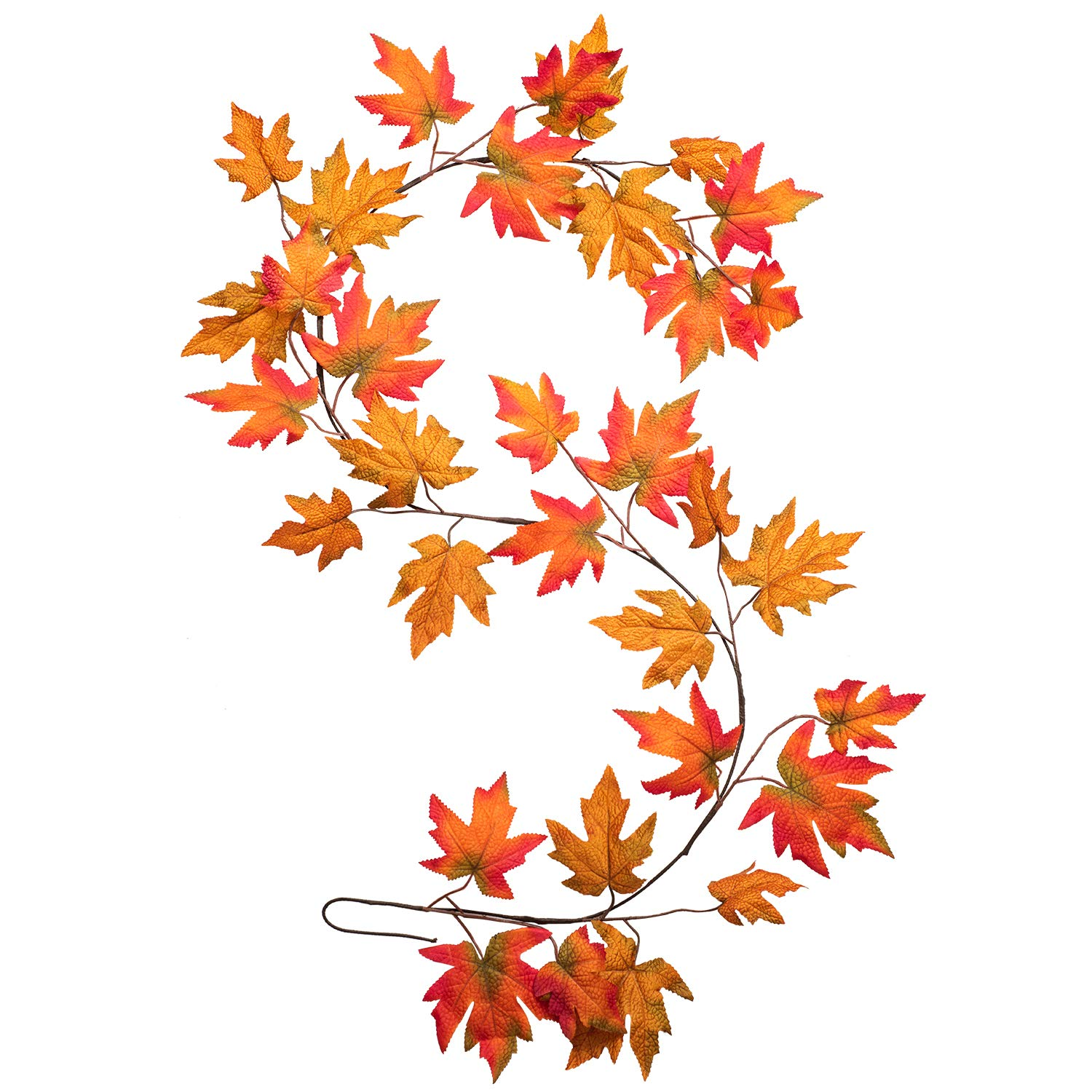 Coolmade 1 Pack Fall Maple Leaf Garland 6ft Artificial Foliage Garland Autumn Hanging Fall Leave Vines For Indoor Outdoor Wedding Thanksgiving Dinner Party Decor Walmart Com Walmart Com