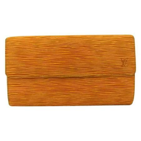 Louis Vuitton Yellow Epi Sarah Bifold Wallet 216459