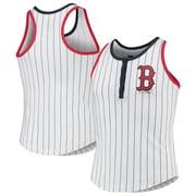 Boston Red Sox New Era Girls Youth Pinstripe Jersey Racerback Tank Top - White/Navy