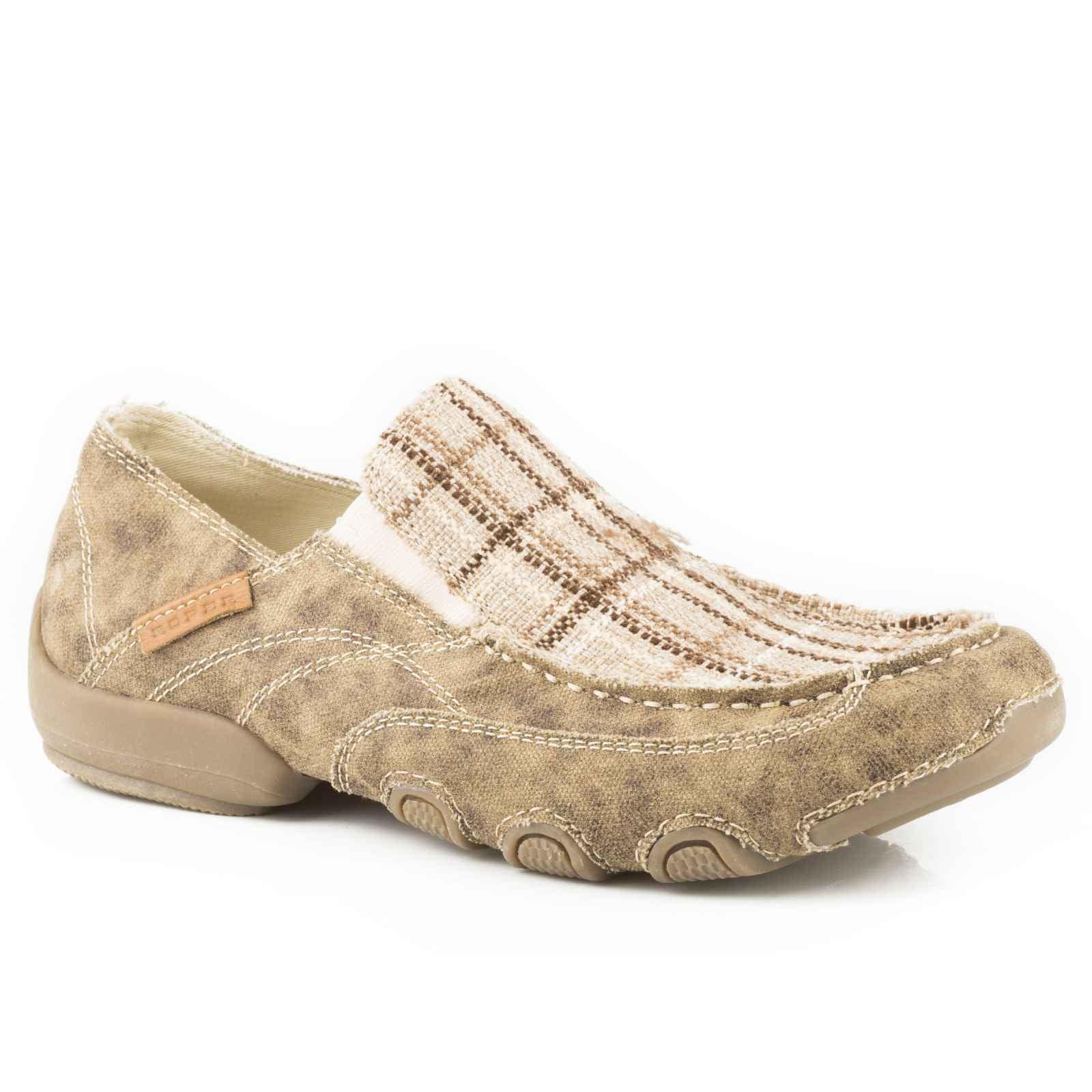 Roper Men's Distressed Dougie Casual Driving Moc Shoes - 09-020-1776-0147 Ta