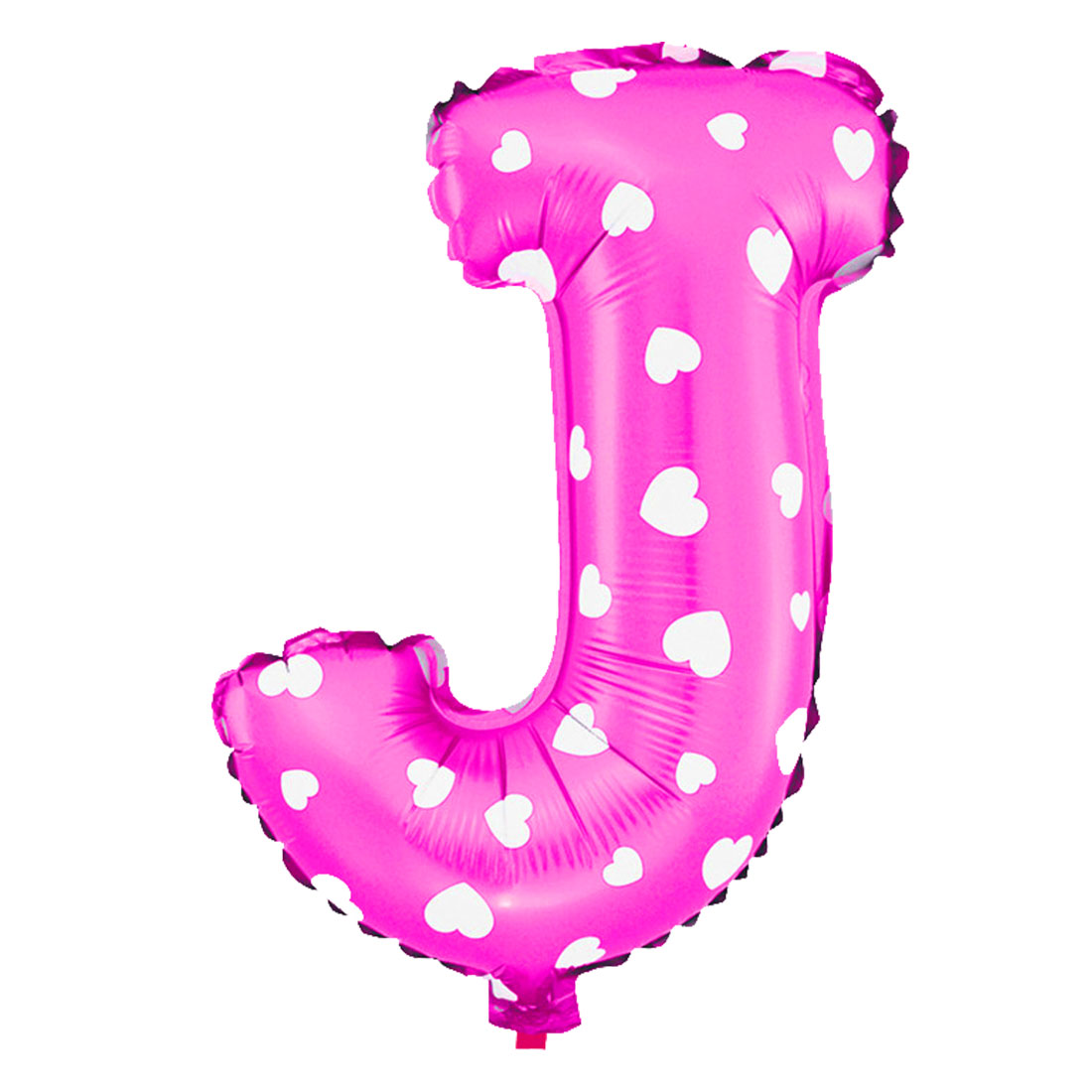 Unique Bargains Foil Letter J Heart Pattern Helium Balloon Birthday Wedding Decor Fuchsia 16""