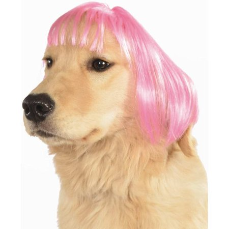Hot Pink Short Bob Dog Wig - Dogs In Wigs