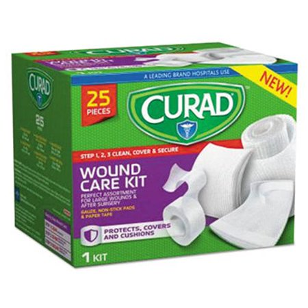- Curad Wound Care Kit: Gauze, Non-Stick Pads and Paper Tape (MIICUR1625)