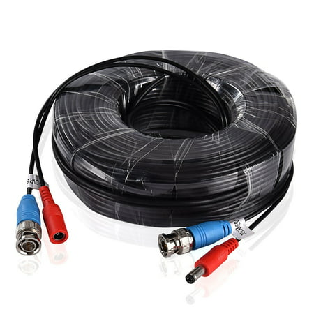 ANNKE Black color 30M / 100 Feet BNC Video Power Cable For CCTV Camera DVR Security System