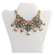 """Gold-Tone Multi-Bib Statement Necklace, 18"""" with 3"""" Extender"""