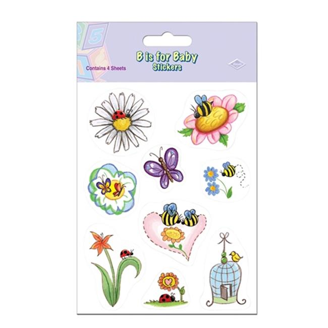 Beistle 54048 B Is for Baby Stickers Pack of 12