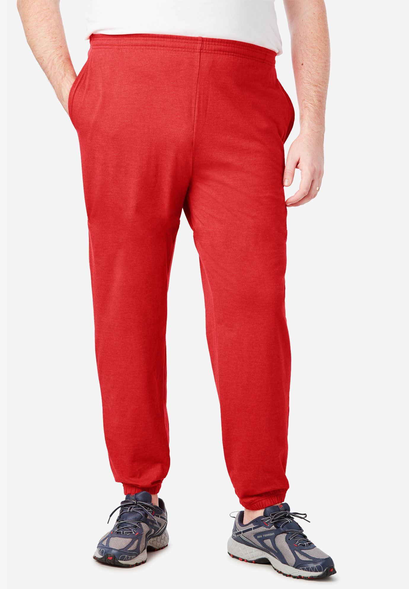 Kingsize Men's Big & Tall Lightweight Elastic Cuff Sweatpants