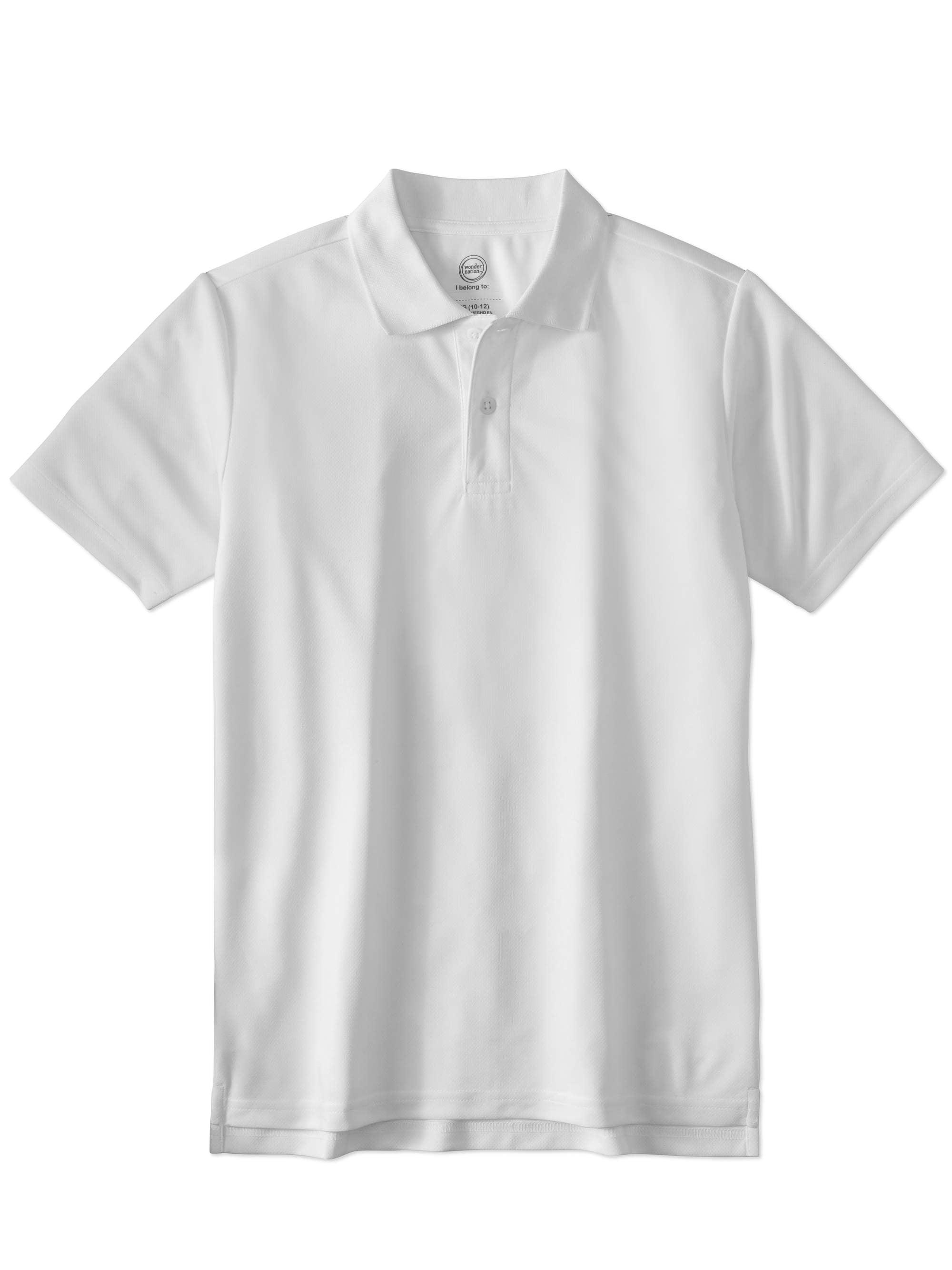 Boys School Uniform Short Sleeve Performance Polo
