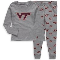 OuterStuff NCAA Toddler Virginia Tech Hokies Sleepwear Long Sleeve Tee & Pant Set