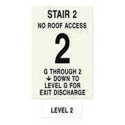 INTERSIGN NFPA-PVC1812(2GN2) NFPASgn,Roof Accss N,Flrs Srvd 1 to 2 G0264811