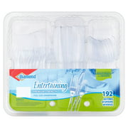 Diamond Clear Assorted Cutlery, 192 Count
