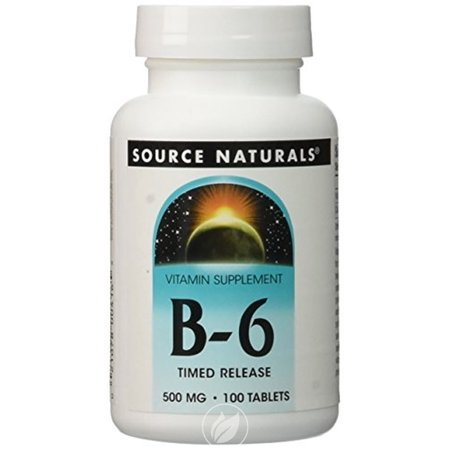 Source Naturals - B-6, 500 mg, 100 Tablets, Pack of