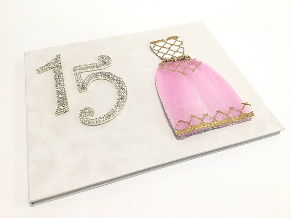 Sweet 16 Bridal Party Princess All Occasion Keepsake Book Choose Style Unique Dress Design Guest Book For Birthday