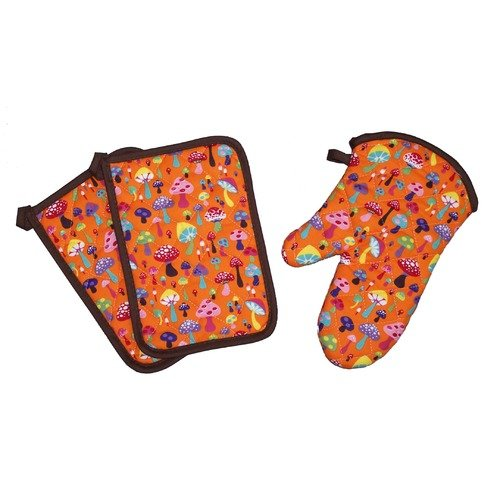 Sassy Cook'n Funguys for Fungals 3 Piece Oven Mitt and Potholder Set